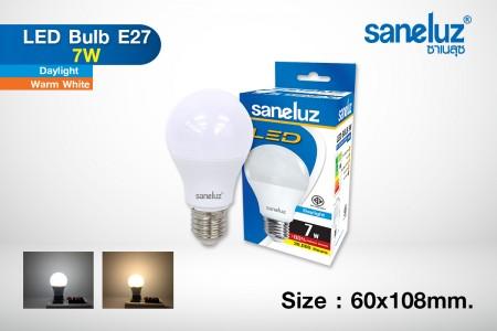 Saneluz LED 7W E27 bulb
