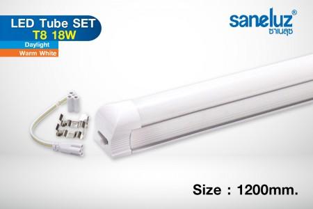 Saneluz หลอดยาว T8 18W LED 120cm. รางในตัว