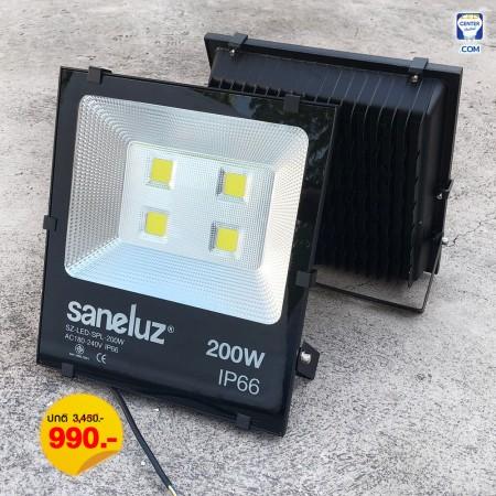 [ ชุด 1 โคม ] โคมสปอร์ตไลท์ LED 200W ใช้งานไฟบ้าน AC220V รุ่น Central Chip แสงสีขาว Daylight 6500K / แสงสีวอร์ม Warm White 3000K