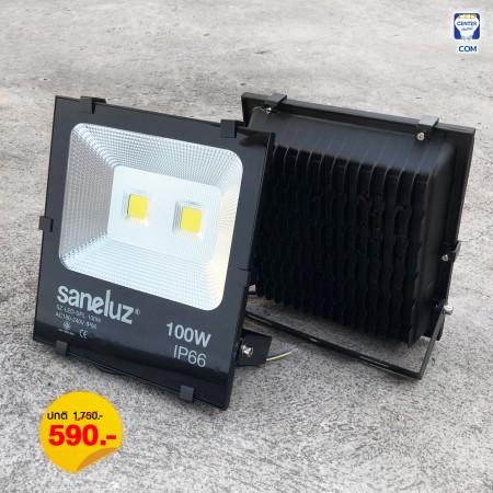 [ ชุด 1 โคม ] โคมสปอร์ตไลท์ LED 100W ใช้งานไฟบ้าน AC220V รุ่น Central Chip แสงสีขาว Daylight 6500K / แสงสีวอร์ม Warm White 3000K
