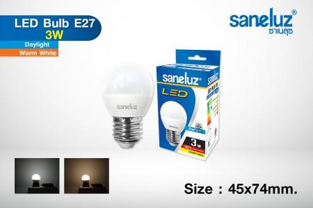 Saneluz LED 3W E27 bulb
