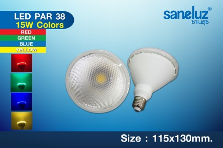 Saneluz LED PAR38 15W E27 Color