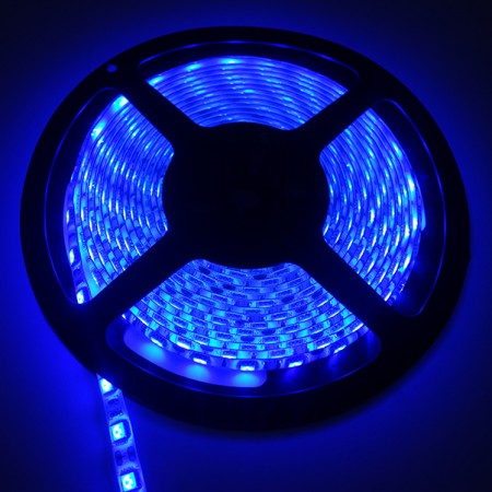 ไฟเส้นริบบิ้น แสงสีน้ำเงิน 12V IP44 SMD5050 แบบเคลือบ