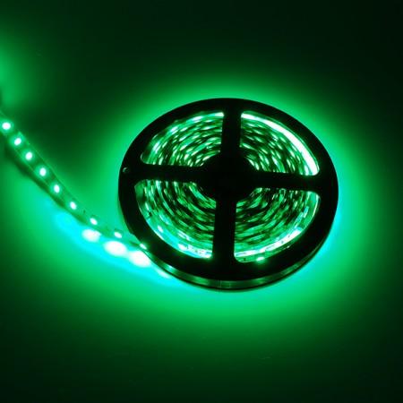 ไฟเส้นริบบิ้น แสงสีเขียว 12V IP33 SMD5050 แบบเปลือย