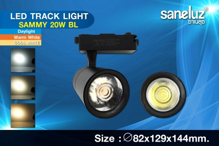 Saneluz LED 20W Track Light SAMMY Black