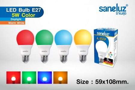 Saneluz LED 5W E27 Color