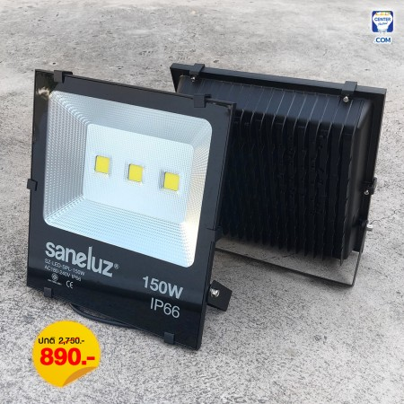 [ ชุด 1 โคม ] โคมสปอร์ตไลท์ LED 150W ใช้งานไฟบ้าน AC220V รุ่น Central Chip แสงสีขาว Daylight 6500K / แสงสีวอร์ม Warm White 3000K