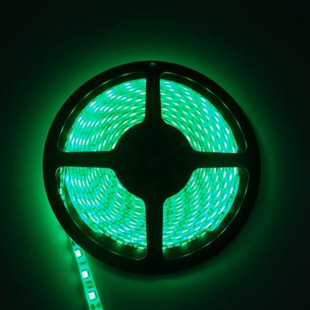 ไฟเส้นริบบิ้น แสงสีเขียว 12V IP44 SMD5050 แบบเคลือบ