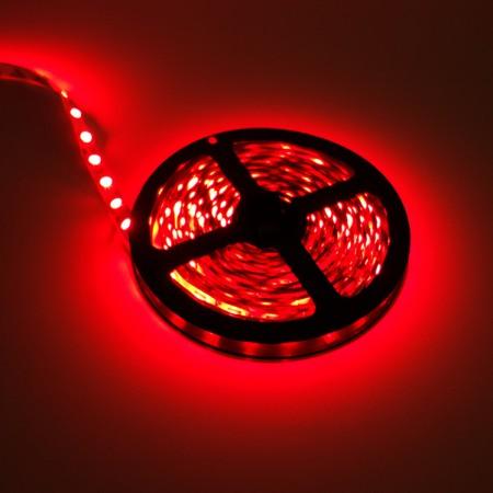 ไฟเส้นริบบิ้น แสงสีแดง 12V IP33 SMD5050 แบบเปลือย