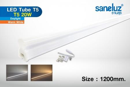 T5 20W LED 120cm set รางในตัว